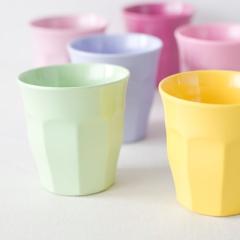 RICE メラミンカップ6色セット