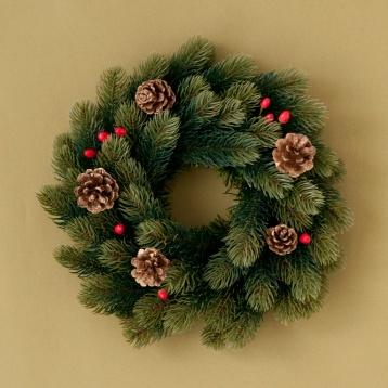 ドイツのRSグローバルトレード社のリースはまるで本物のもみの木の様。松ぼっくりや赤い木の実など、自然の素材をデコレーションすればひときわやさしい雰囲気のリースのできあがり! ☆ リース http://goo.gl/s3ZrQ5 クリスマスまであと22日...