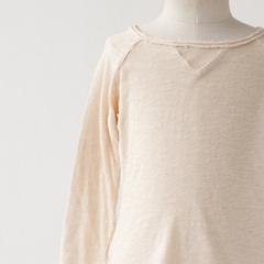 BONTON 2015AW キッズ ラグランスリーブTシャツ(093 ライトベージュ)8A-10A
