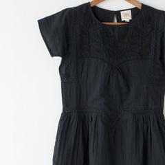 SWILDENS 2016SS ティーン 刺繍ワンピース(057 BLACK)10A-14A