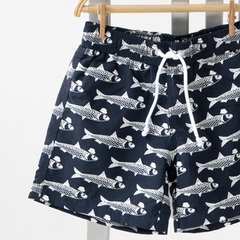 EMILE ET IDA 2016SS キッズ SHORTY MBスイムパンツ(135 ネイビー×フィッシュ)2A-6A
