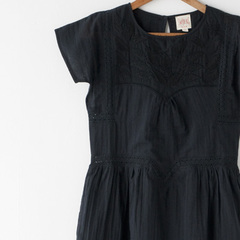 SWILDENS 刺繍ワンピース(057 BLACK)10A-14A