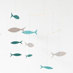 KETIKETA モビール フィッシュ(fish ブルー×グレー)
