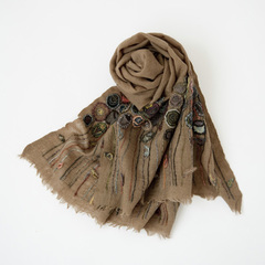 SOPHIE DIGARD NOMAD SMALL WOOL SCARF ウールスカーフ(BEIGE/VOLC )