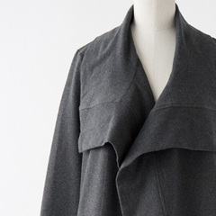 BEAUMONT ORGANIC NOLAロングカーディガン(DARK GREY )