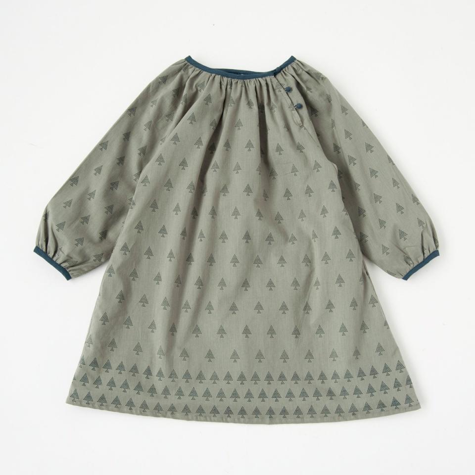 KETIKETA 2016AW キッズ KALI DRESS プリントワンピース(1833 ピーグリーン)