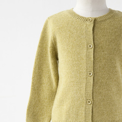 CARAMEL 2016AW キッズ ANDULASITE CARDIGAN カーディガン(LIME ライムグリーン)8A-10A