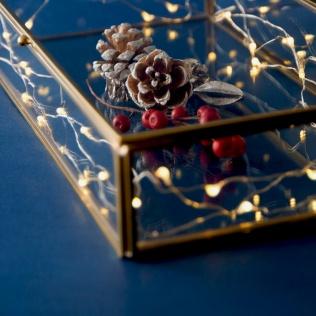 普段はアクセサリーや小物を入れているガラスケースも、ホリデーバージョンに。 小さな光が可愛いライトを入れたら、まるで夜空の星のよう。 ◇HUBSCH GLASS BOX https://goo.gl/mWPiBI クリスマスまであと9日...