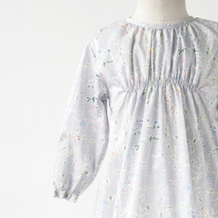 MAKIE BABY DRESS W/RIBBON ギャザーワンピース(LAVENDER FLOWER )2A-4A