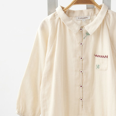 CARAMEL MOSSY BABY ROMPER 刺繍ロンパース(CREAM クリーム系)12M-18M