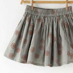 KETIKETA MEERA SKIRT プリントギャザースカート(1831 ピーグリーン)3A-6A
